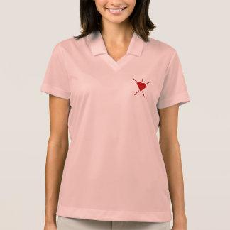 Built4Loveの放射ハートの紋章 ポロシャツ