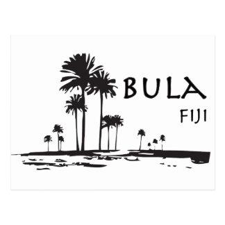Bulaフィージーのヤシの木のグラフィック ポストカード