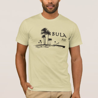 Bulaフィージーのヤシの木のグラフィック Tシャツ
