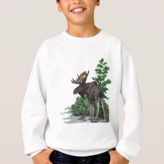 Bullのアメリカヘラジカの芸術 スウェットシャツ