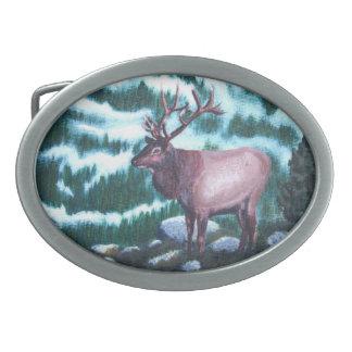 Bullのオオシカの楕円形のベルトの留め金 卵形バックル