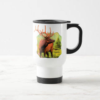 Bullのオオシカの野性生物のタンブラー トラベルマグ