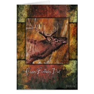 Bullのオオシカの野性生物の父のバースデー・カード カード
