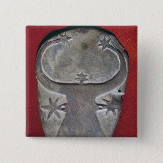 Bullのヘッドパレット 5.1cm 正方形バッジ