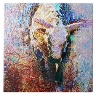 Bullの乗馬のロデオの西部の芸術 タイル
