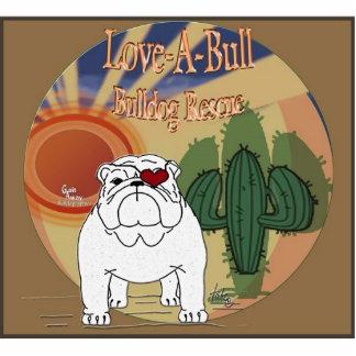 Bullの救助のワイシャツPinを愛して下さい 写真彫刻バッジ