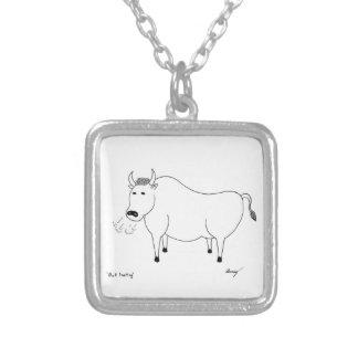 Bullの民芸のネックレス シルバープレートネックレス