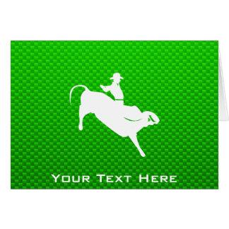 Bullの緑のライダー カード