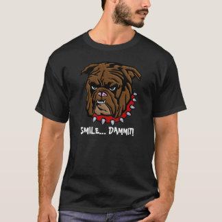 Bull犬のユーモアの人のおもしろTシャツ Tシャツ