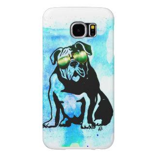 Bull犬の電話箱 Samsung Galaxy S6 ケース