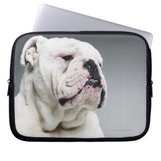 Bull白い犬 ラップトップスリーブ