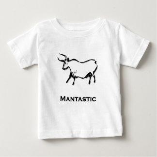 Bull_1_mantastic_shirt_Black ベビーTシャツ