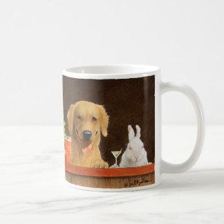 Bullas犬および若いblonの襲いましたり/ノウサギ コーヒーマグカップ
