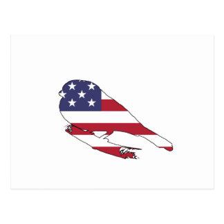 """Bullfinch """"米国旗"""" ポストカード"""