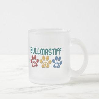 BULLMASTIFFのお母さんの足のプリント1 フロストグラスマグカップ
