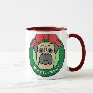 Bullmastiffのクリスマス マグカップ