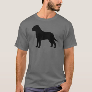 Bullmastiffのシルエット Tシャツ