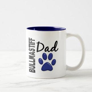 Bullmastiffのパパ2 ツートーンマグカップ