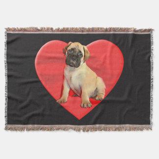 Bullmastiffの子犬の投球毛布 スローブランケット