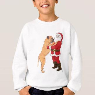 BullmastiffのJowlyクリスマスの挨拶 スウェットシャツ
