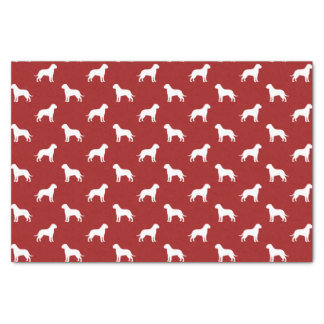 Bullmastiffはパターン赤のシルエットを描きます 薄葉紙