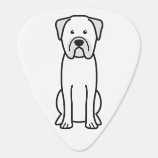 Bullmastiff犬の漫画 ギターピック