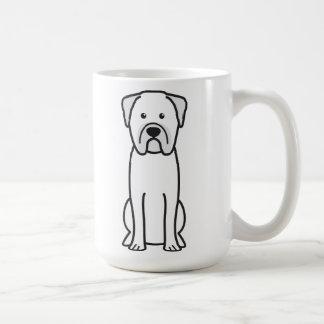 Bullmastiff犬の漫画 コーヒーマグカップ