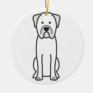 Bullmastiff犬の漫画 セラミックオーナメント