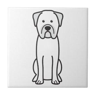 Bullmastiff犬の漫画 正方形タイル小
