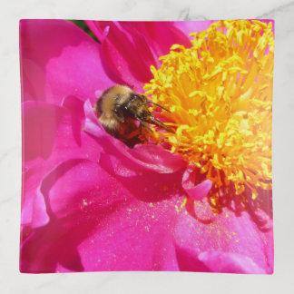 Bumblebee and Peony トリンケットトレー