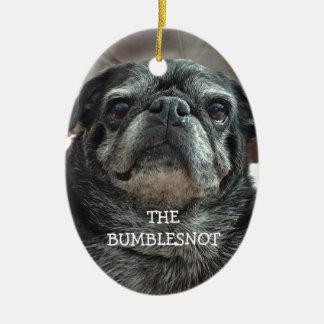 """Bumblesnot """"Adopt買物をしません!"""" 楕円形のオーナメント セラミックオーナメント"""