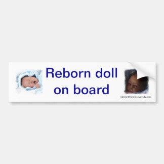 bumpstickerの上の生まれ変わる人形 バンパーステッカー