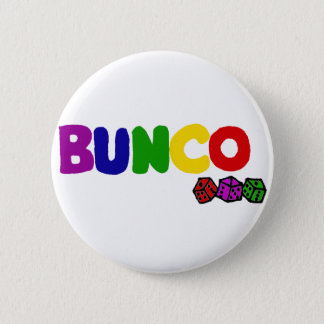 Buncoおよびサイコロのカラフルな芸術 缶バッジ