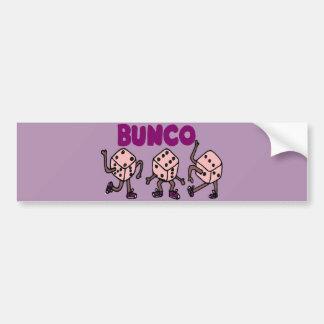 Buncoのおもしろいな踊るサイコロ バンパーステッカー