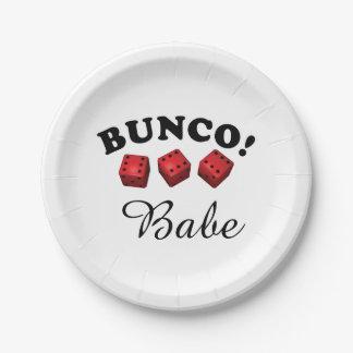 Buncoのサイコロおよび可愛い人 ペーパープレート