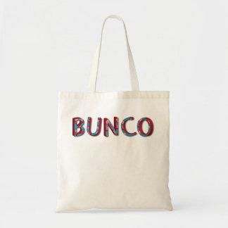 buncoのサイコロが付いているBuncoの手紙 トートバッグ