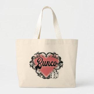 Buncoのサイコロの女の子夜トートバック ラージトートバッグ