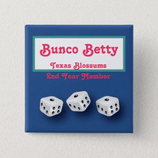 Buncoの名札 5.1cm 正方形バッジ