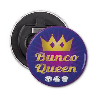 Buncoの女王の王冠およびサイコロ 栓抜き