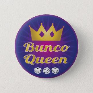 Buncoの女王の王冠およびサイコロ 缶バッジ