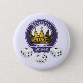 Buncoの女王の王冠およびサイコロ 5.7cm 丸型バッジ