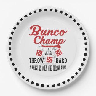 Buncoの紙皿-ヴィンテージのBuncoのチャンピオン ペーパープレート