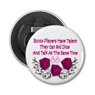 Buncoプレーヤーに才能があります ボタン型 栓抜