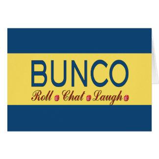 Bunco -ロール、雑談、笑い カード