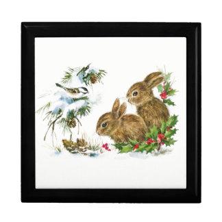 Bunnies and Bird Enjoy Snow ギフトボックス