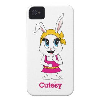Bunny™のCutesyブラックベリーのはっきりしたな穹窖 Case-Mate iPhone 4 ケース