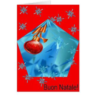 BuonのNataleメリーなクリスマス カード