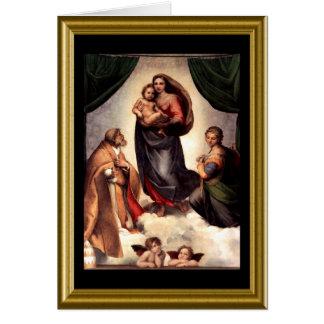 Buonのnatale -イタリア語のSt Francisの祈りの言葉 カード