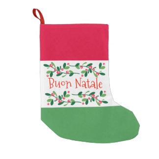 Buon Natale (Merry Christmas) スモールクリスマスストッキング