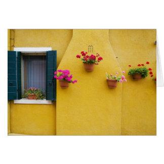 Buranoの島、Burano、イタリア。 カラフルなBurano 3 カード